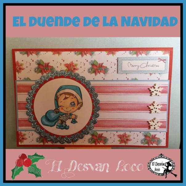 El duende de la navidad tarjeta