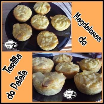 magdalenas de tortilla de patatas
