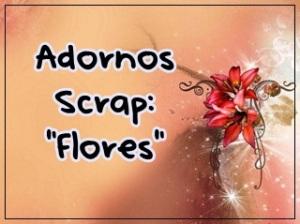 Adornos Scrap flores